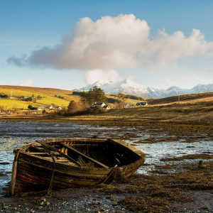 Old boat on Isle of Skye