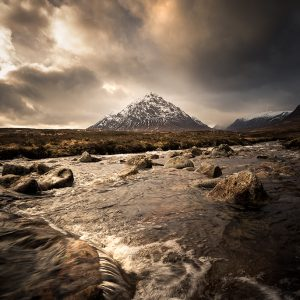 torm Approaching Buachaille Etive Mor