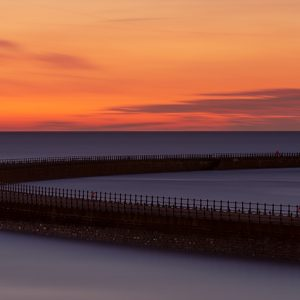 Roker Pier Sunrise Canvas Print