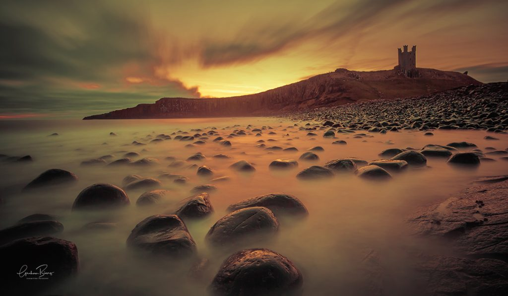 Dunstanburgh Castle Sunrise Print