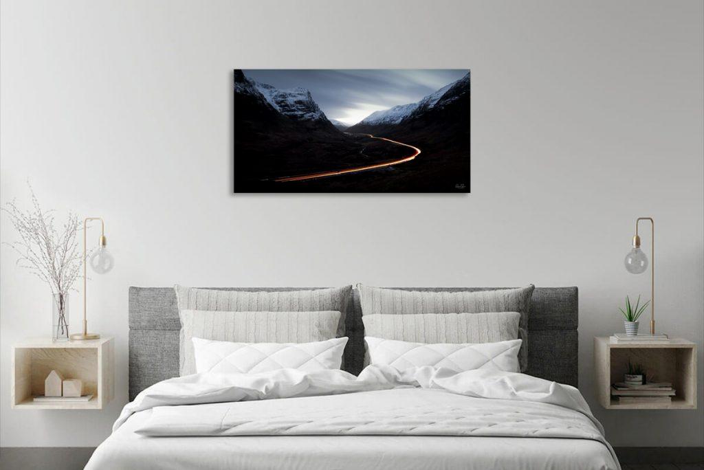 Glencoe pass light trails Scotland print