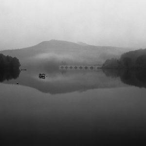 Ladybower mist Ashopton viaduct