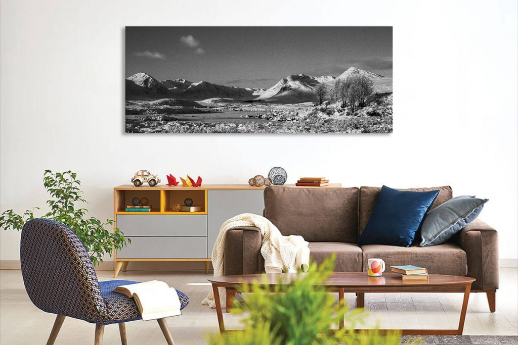 Black Mount Fine art print Canvas